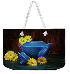 Tea Kettle With Daisies Still Life Weekender Tote Bag