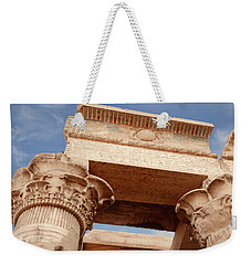 Weekender Tote Bag featuring the photograph Temple Of Kom Ombo by Silvia Bruno