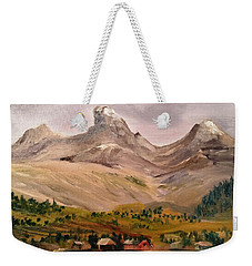 Tetons From The West Weekender Tote Bag by Larry Hamilton