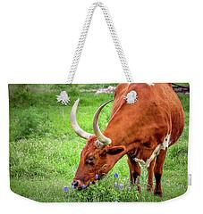 Texas Longhorn Grazing Weekender Tote Bag