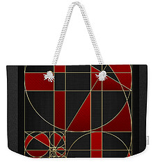 The Alchemy - Divine Proportions - Red On Black Weekender Tote Bag