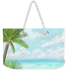 Weekender Tote Bag featuring the digital art The Beach by Darren Cannell