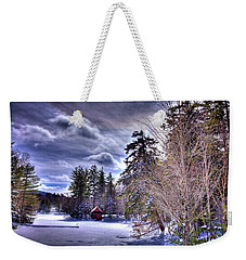 Weekender Tote Bag featuring the photograph The Beaver Brook Boathouse by David Patterson