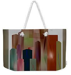 Weekender Tote Bag featuring the digital art The Block by John Krakora