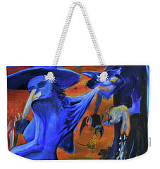 The Cat And The Witch Weekender Tote Bag by Christophe Ennis