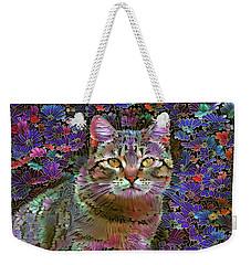 The Cat Who Loved Flowers 2 Weekender Tote Bag