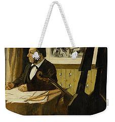 The Cellist Pilet Weekender Tote Bag by Edgar Degas