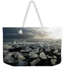 Weekender Tote Bag featuring the photograph The Diamond Beach, Jokulsarlon, Iceland by Dubi Roman