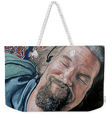 Weekender Tote Bag featuring the painting The Dude by Tom Roderick