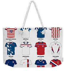 The Evolution Of The Us World Cup Soccer Jersey Weekender Tote Bag