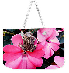 The Frog And The Flower Weekender Tote Bag