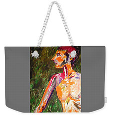 Weekender Tote Bag featuring the painting Benjamin Beseiged by Esther Newman-Cohen