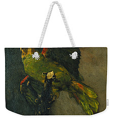 The Green Parrot Weekender Tote Bag by Vincent Van Gogh