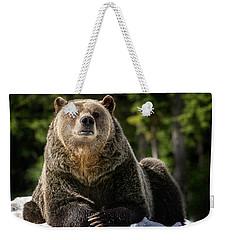 The Grizzly Bear Grinder Weekender Tote Bag