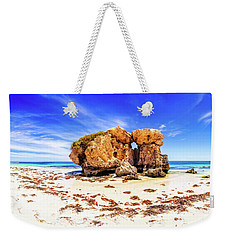 Weekender Tote Bag featuring the photograph The Sentry, Two Rocks by Dave Catley