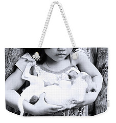 Weekender Tote Bag featuring the photograph The Hold by Jez C Self