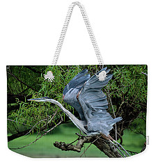 Weekender Tote Bag featuring the photograph The Launch by Douglas Stucky