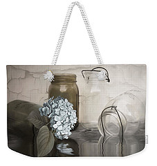 Weekender Tote Bag featuring the mixed media The Looking Glass by Robin-Lee Vieira