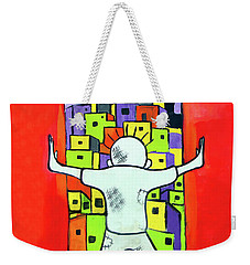 Weekender Tote Bag featuring the photograph The Man by Munir Alawi