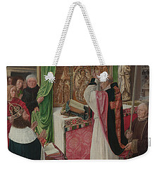 The Mass Of Saint Giles Weekender Tote Bag by Master of Saint Giles