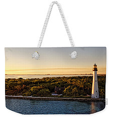 Weekender Tote Bag featuring the photograph The Miami Lighthouse by Lars Lentz