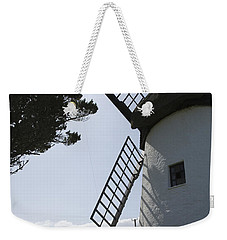 Weekender Tote Bag featuring the photograph The Old Irish Windmill by Ian Middleton