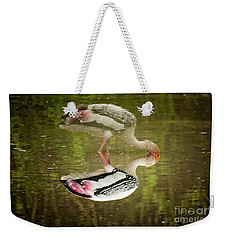 The Painted Stork  Mycteria Leucocephala  Weekender Tote Bag