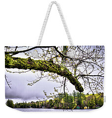The Pond In Old Forge Weekender Tote Bag by David Patterson