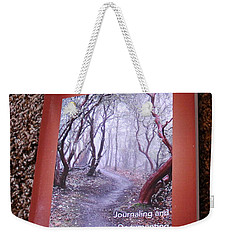 Weekender Tote Bag featuring the photograph The Recordkeeper by Marie Neder