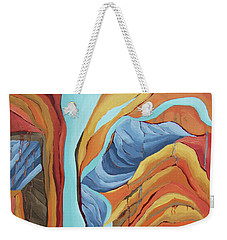 Weekender Tote Bag featuring the painting The Rocks Cried Out, Zion by Erin Fickert-Rowland