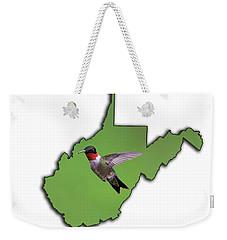 The Ruby-throated Hummingbird Weekender Tote Bag