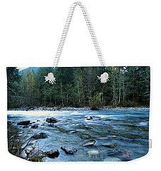 Weekender Tote Bag featuring the photograph The Snowqualmie River by Jeff Swan