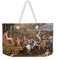 The Triumph Of Bacchus Weekender Tote Bag by Nicolas Poussin