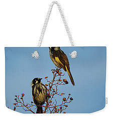 Weekender Tote Bag featuring the photograph The Two Of Us by Mark Blauhoefer