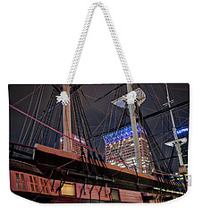 Weekender Tote Bag featuring the photograph The Uss Constellation by Mark Dodd