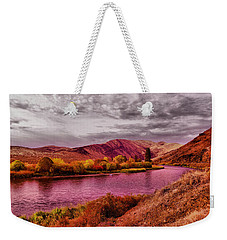 Weekender Tote Bag featuring the photograph The Yakima River by Jeff Swan