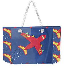 Weekender Tote Bag featuring the digital art Theme Aviation Aeroplanes Aircraft Travel Holidays Christmas Birthday Festival Gifts Tshirts Pillows by Navin Joshi