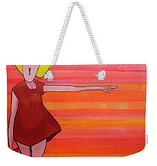 Weekender Tote Bag featuring the painting They Were Warned by Donna Howard