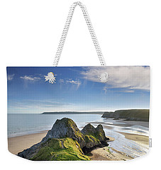 Three Cliffs Bay 5 Weekender Tote Bag