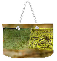 Tibetan Prayer Flags Weekender Tote Bag