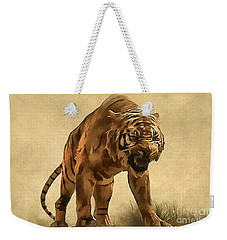 Tiger Weekender Tote Bag by Sergey Lukashin