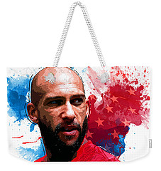 Tim Howard Weekender Tote Bag by Semih Yurdabak