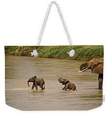 Tiny Elephants Weekender Tote Bag