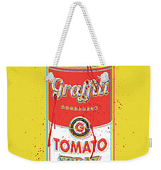 Tomato Spray Can Weekender Tote Bag by Gary Grayson