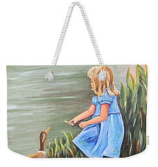 Tori And Her Ducks Weekender Tote Bag