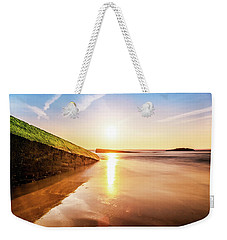 Weekender Tote Bag featuring the photograph Touching The Golden Cloud by Thierry Bouriat