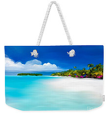 Weekender Tote Bag featuring the digital art Tranquil Beach by Anthony Fishburne