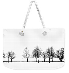 Weekender Tote Bag featuring the photograph Trees by Chevy Fleet