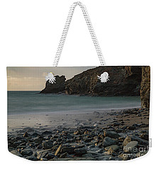 Weekender Tote Bag featuring the photograph Trevellas Cove by Brian Roscorla