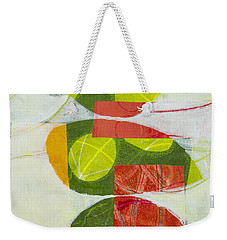Weekender Tote Bag featuring the mixed media Trio by Elena Nosyreva